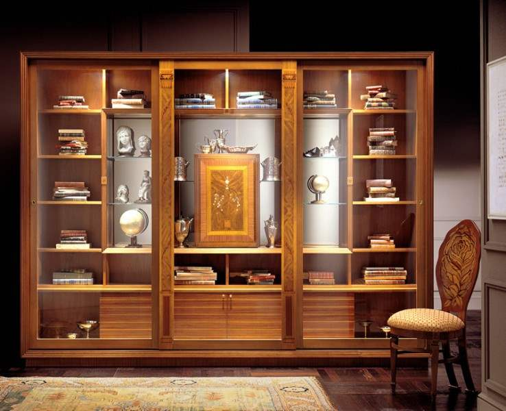 Luxury Italian bookcase by Carpanelli