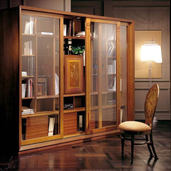 Vitrine bookcase 'Le Cornici' VL661 - Luxury Bookcase by Carpanelli