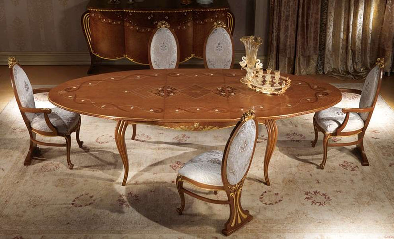 Vanity extendible oval table TA51