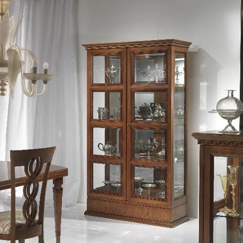 Quadrotti' two doors vitrine V478