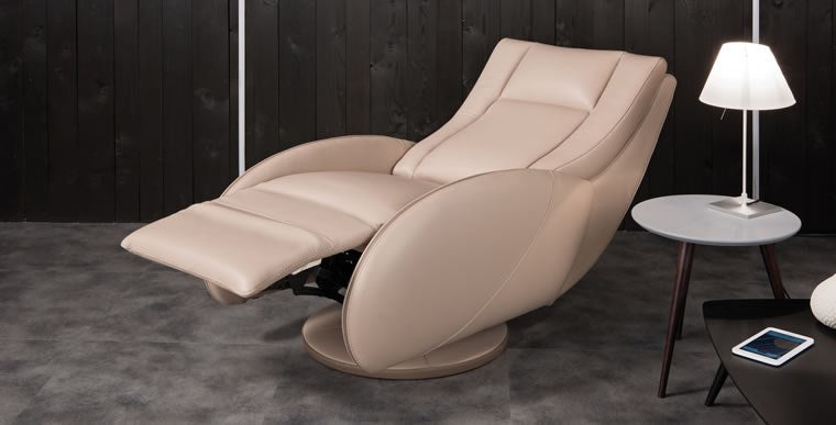 Home theater reclining chair with leg rest extended
