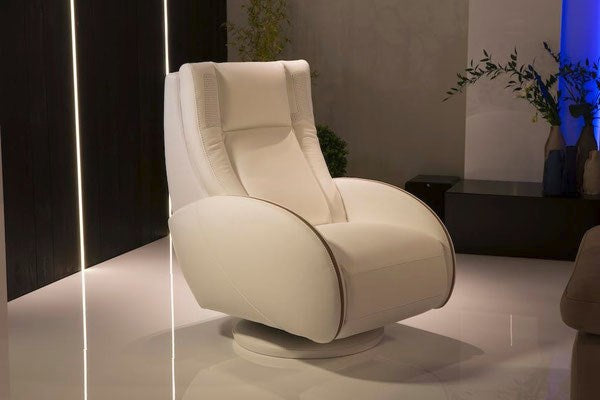 reclining leather chair made in Italy