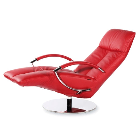 Mago red leather recliner chair