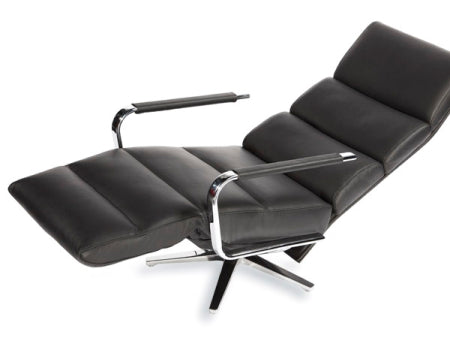 reclining chair in reclined position