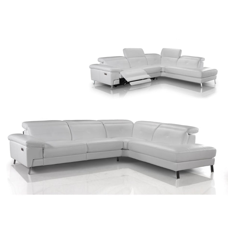 White leather Sorrento Sectional | italydesign.com