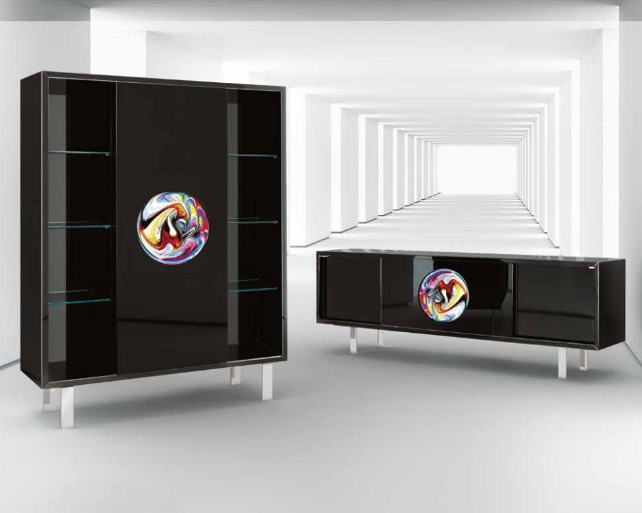 Murano Madia e Buffet - Luxury buffet with Murano glass  by  Reflex and made In Italy