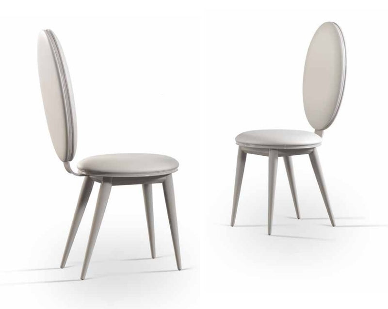 Bastide Collection high-end luxury dining chairs in white