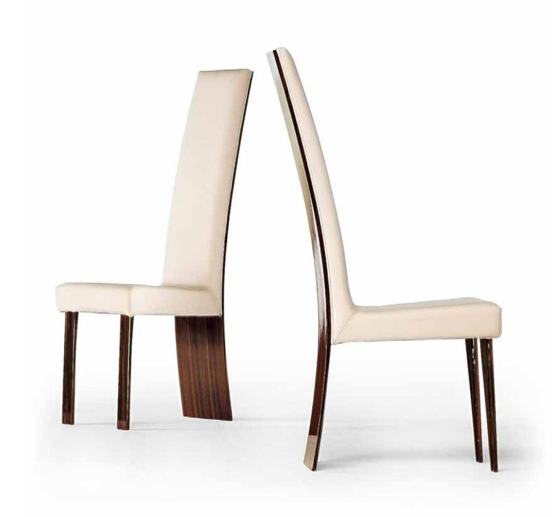 Luxury high-backed dining chairs made by Reflex