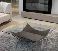 Vela 40 - High end  glass coffee table by Reflex  made in Italy