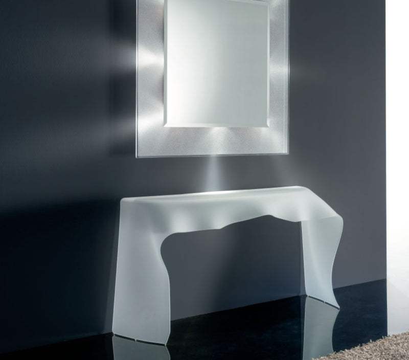 Foulard Console - glass table made in Italy by Reflex