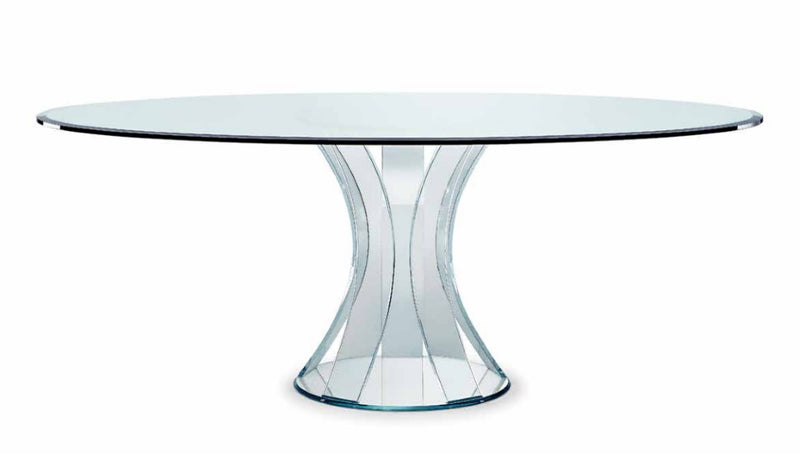 Barrique 72 - Higjh end modern glass dining table  by Reflex