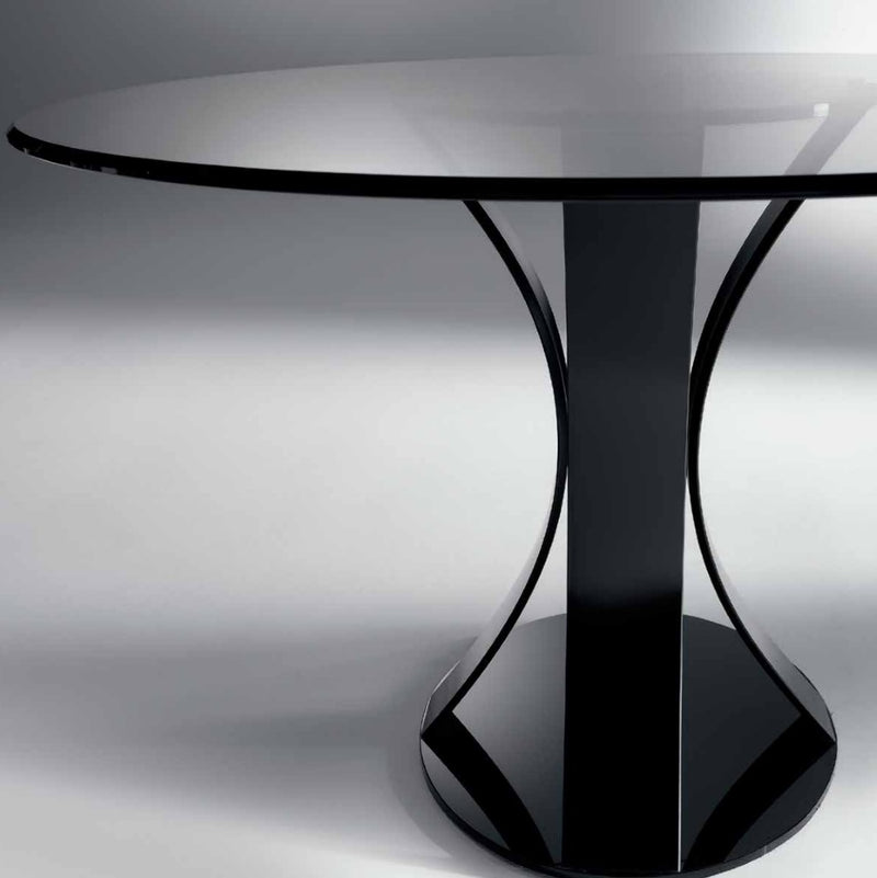Barrique 72 Dining table with dark glass made in Italy by Reflex