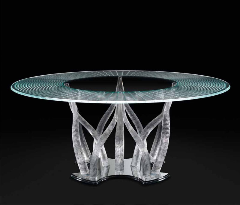 Flambe 72 - Italian dining table made from glass