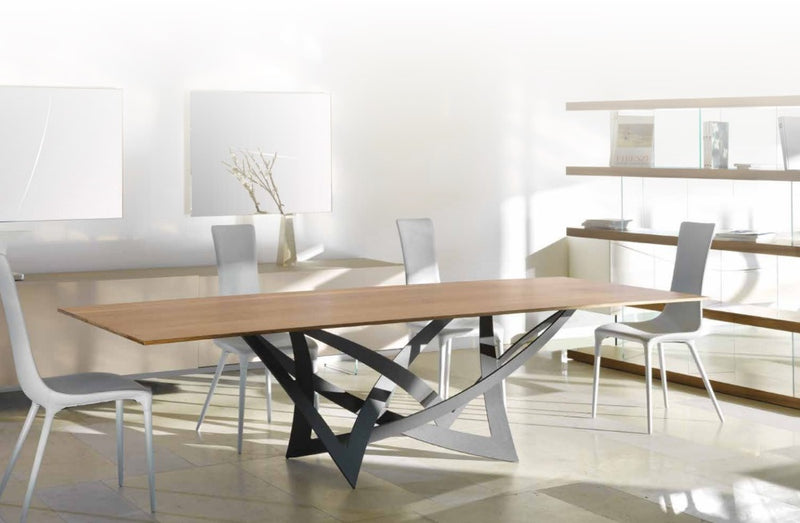 Infinito 72 Grafite Luxury dining table made in Italy by Reflex
