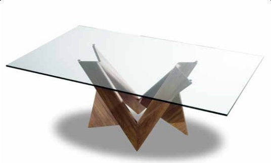 Mathematique 72 luxury dining table top view