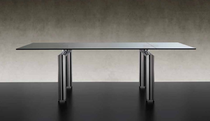 Luxury Expandable Policleto Glass Dining Table - italydesign.com