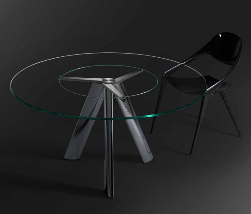 Lem Con Lazy Susan High End  modern dining  table by Reflex  made in Italy