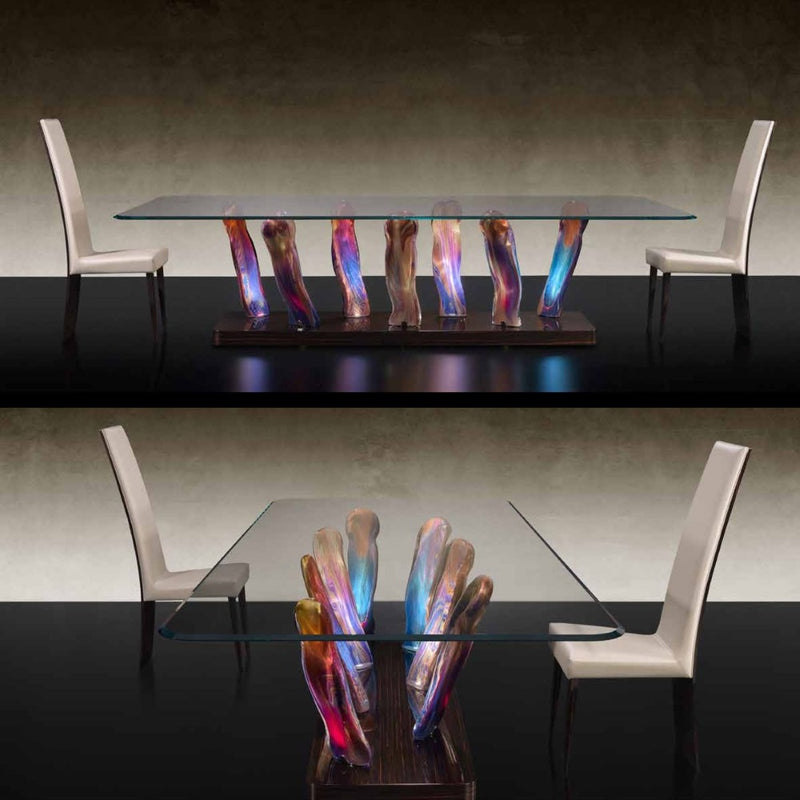 Sassi 72 Special dining table viewed from the long side and short side