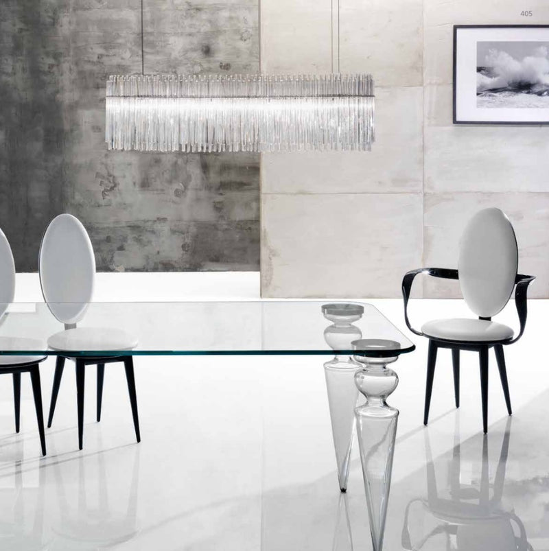 modern Italian dining room with luxury furniture