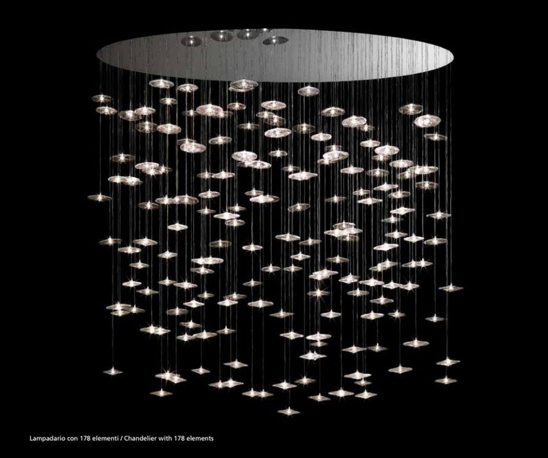 Designer luxury chandelier made in Italy by Reflex