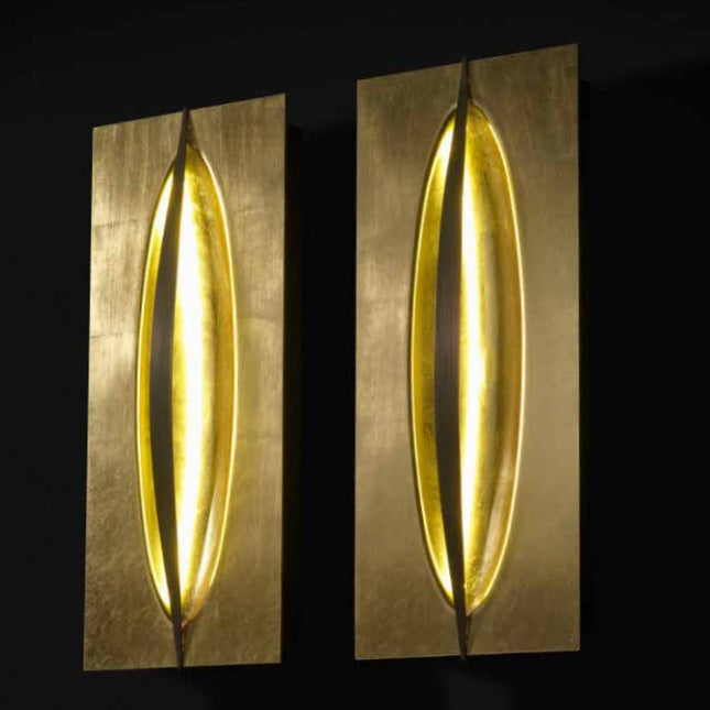Gold lighting units by Reflex
