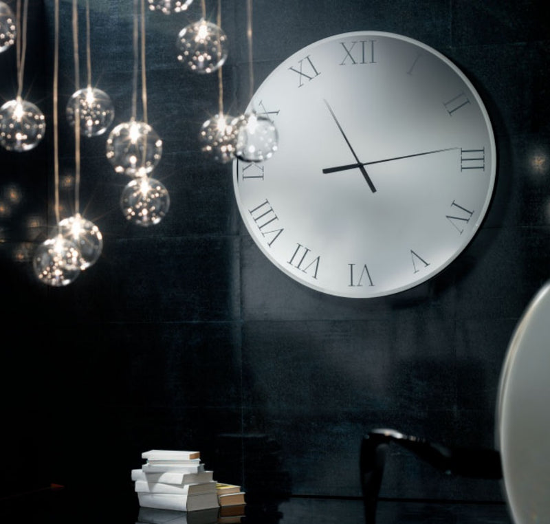 Clock with various  glass  finishes by  Reflex