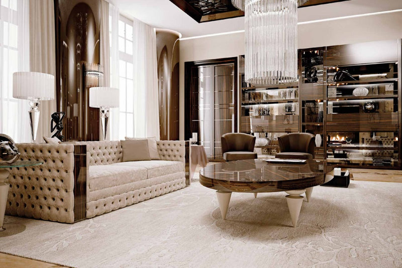 Room full of luxury furniture by Reflex and made in Italy