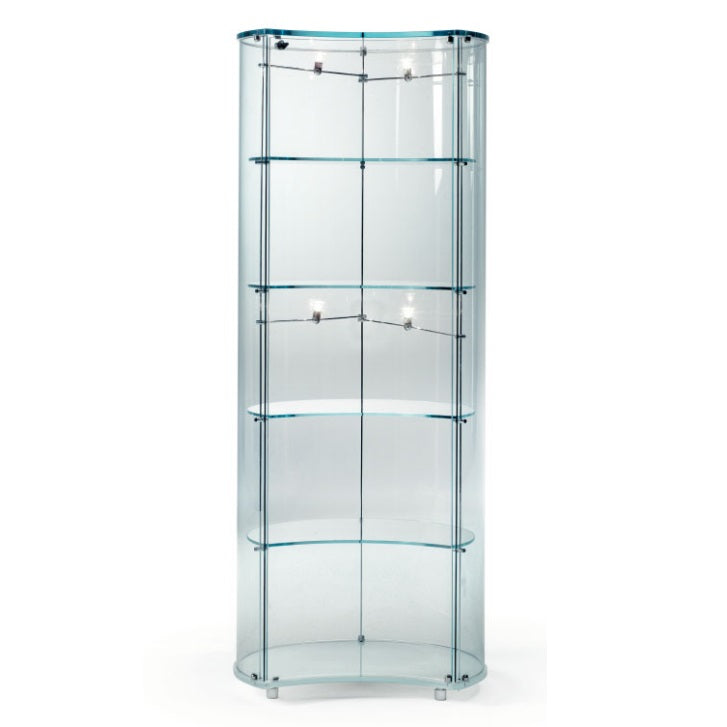 Luna Vetrine - Modern  Glass  dispaly cabinet by Reflex