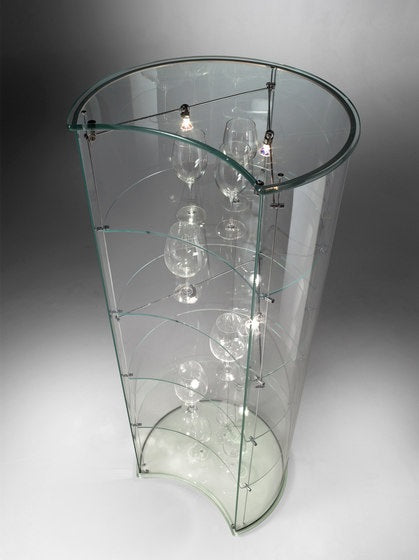 Luna Vetrine - glass display cabinet overhead view