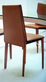 Relaix Side Chair - Modern leather dining chair by Fasem