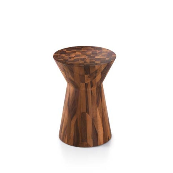 Stool made from solid wood in Italy