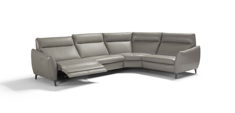 S Sectional / Sofa in tan leather