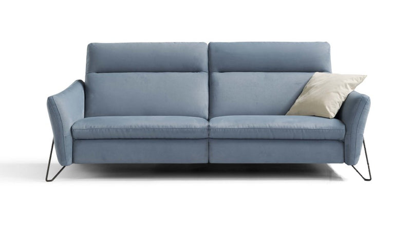 S Sectional / Sofa  two seat in grey leather