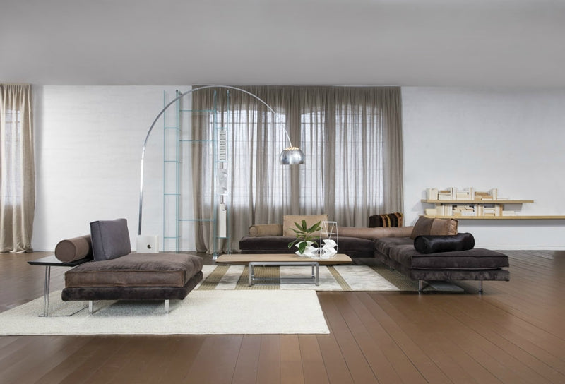 View of the Luxury modern modular sofa by Il Loft made in Italy in Gray