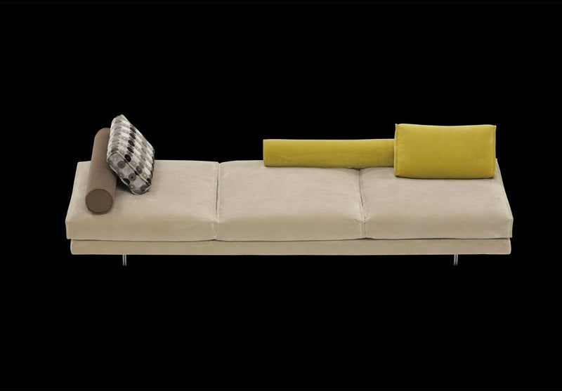 View of white Luxury modern modular sofa by Il Loft made in Italy