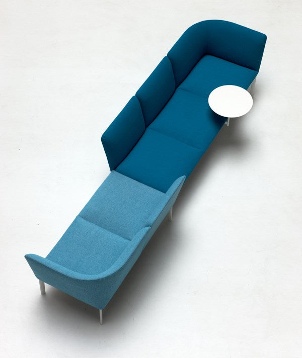 ADD Modular Sofa System - Dark and light blue modular sofa by Lapalma