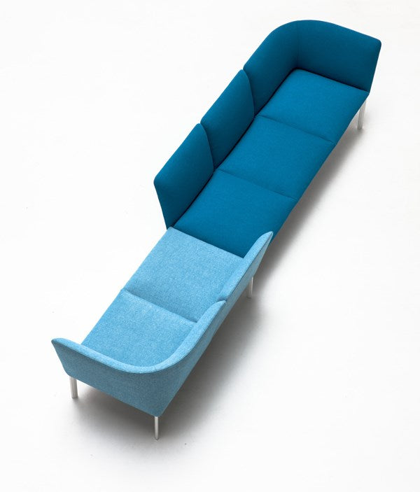 Blue sofa made in Italy by Lapalma