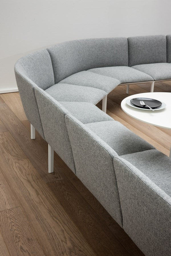 grey curved sectional sofa system