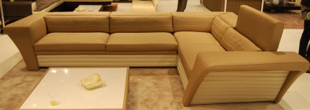 Tan Italian designer furniture