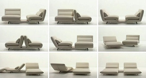 Le Vele Video Sofa Bed  in an assortment of configurations