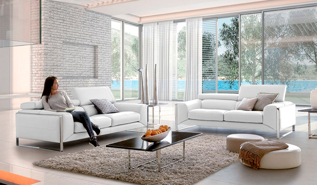 Bergamo Sofa - Italian sofa with adjustable headrests