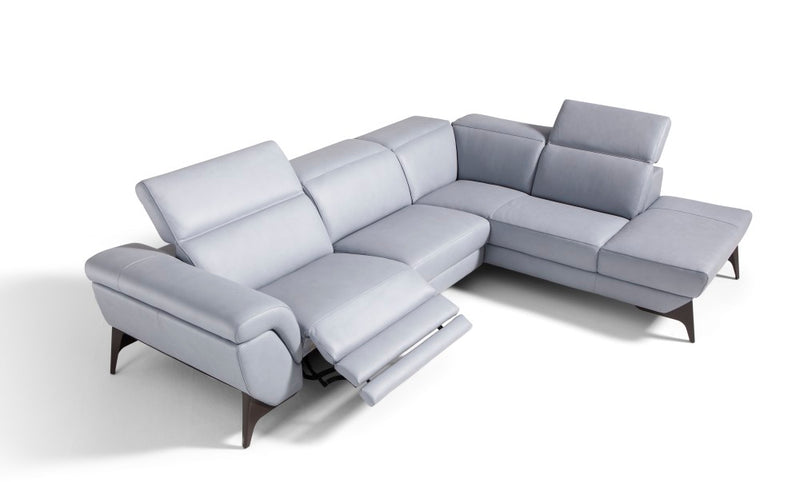 Micol reclining Italian sofa in white room