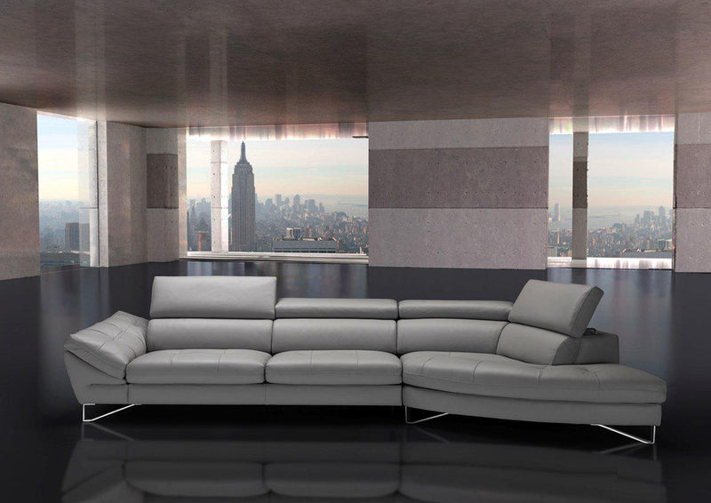 Fiorentino Sectional - curved  leather sectional made in Italy
