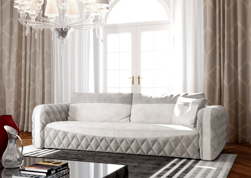 Glamour Sofa - Classical luxury leather sofa by Formenti Divani made in Italy