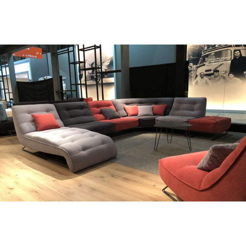 Isola - Modern sectional and sofa in fabric  made in Italy