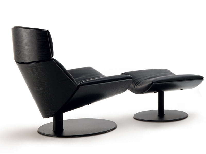 Kara Chair with foot rest by Desiree in black