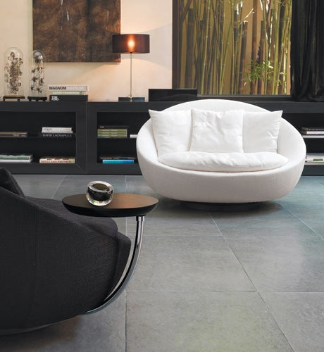black and white swivel chairs made in Italy by Desiree