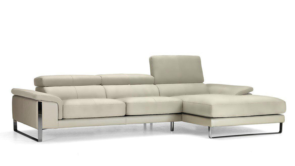 Lucca Sectional Sofa - Leather sectional with adjustable headrests