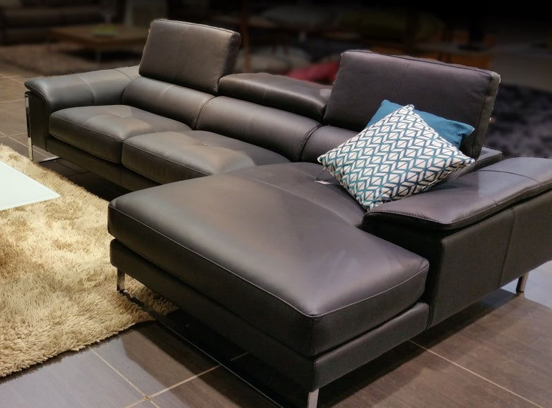 brown leather sectional sofa made in Italy