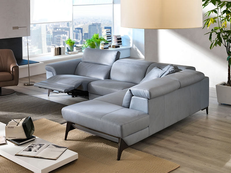 Reclining sectional sofa with modular sizes  made in Italy
